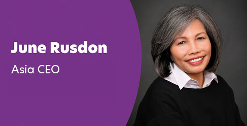 June Rudson - Chief Executive Officer, Asia